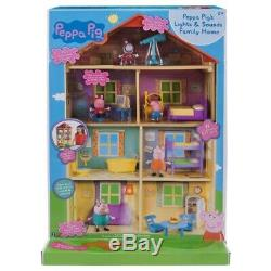 NEW Peppa Pig Lights n Sounds Family Home Playset 22inches Tall Birthday Gift