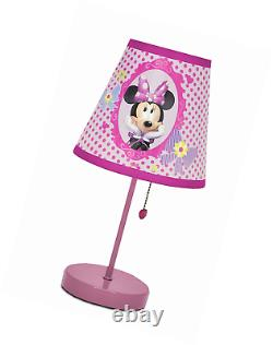 New Kids Room Pink Minnie Boutique Table Lamp Nightstand Desk Birthday Gift