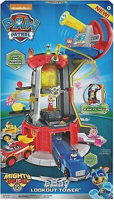 New Paw Patrol Mighty Lookout Tower Deluxe Playset Over 80cm Tall Birthday Gift