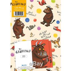 Official GRUFFALO 2 x Gift Wrapping Sheets & 2 x Tags Birthday Party Party Kids