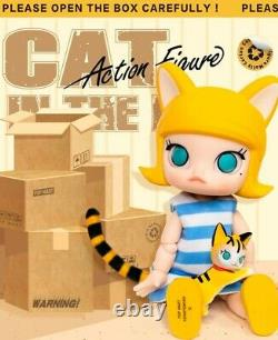 POP MART Molly Cat In The Box BJD Doll Binary Action Figure Birthday Gift Kid