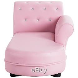 Pink Kids Sofa Armrest Chair Couch Chaise Lounge Children Toddler Birthday Gift