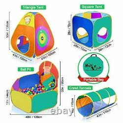 Play Tent and Tunnels for Kids Best Birthday Gift Pit Balls Not Included