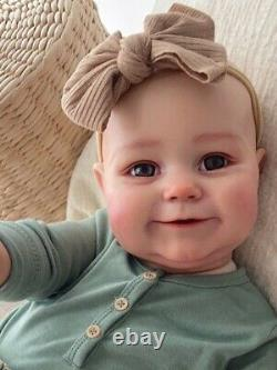 Reborn Baby Doll Smile Maddie Soft Toddler Realistic Silicone Birthday Gift 60cm