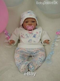 Reborn Baby Girl Doll, Baby Claire, blue eyes ready now. Birthday/xmas gift