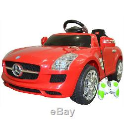 Red Mercedes Benz SLS RC Mp3 Kids Baby Ride on Car Electric Toy Birthday Gift