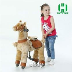 Ride on Horse Toy Wheels for Kids Plush Scooter Christmas Children Birthday Gift