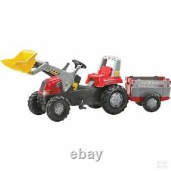 Rolly Kids Tractor Loader Trailer Ride On Childrens Christmas Gift Birthday