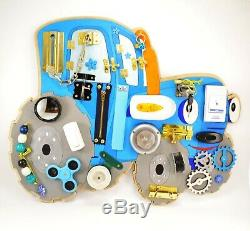 Tractor Busy board Toddler toys Montessori gifts Baby birthday Sensory Activity