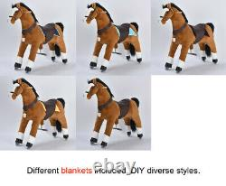 UFREE Action Ride on Toy 44 Large, 6-Adult, Birthday Gift For Kids, Black Mane